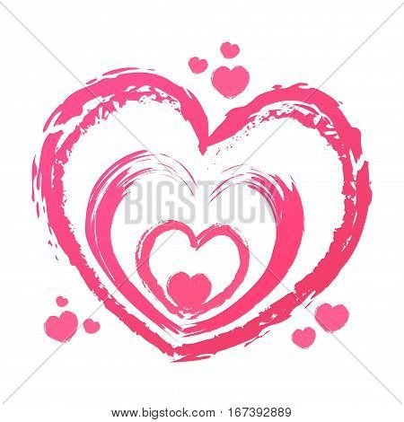 Vector stock of hand drawing love heart symbol abstract background