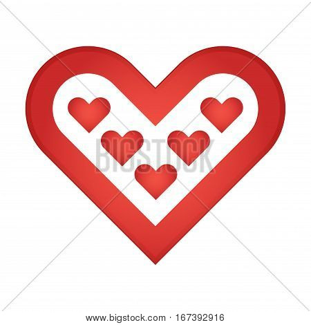 Vector stock of love icon or heart symbol over a white background