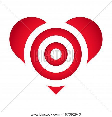 Vector stock of target practice in heart shaped love symbol