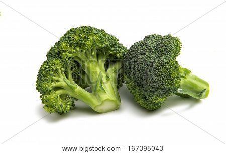 Romanescu (Brassica Oleracea). Roman cauliflower. Romanesco broccoli cabbage isolated on white background.