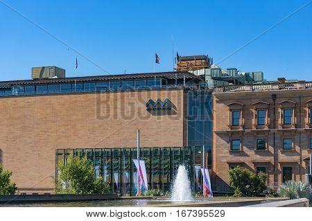 Australian Museum Building On Sunny Day