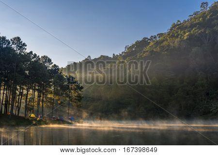 Morning Light At Pang Ung Lake