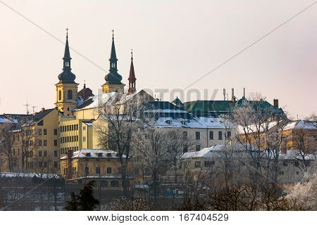 Panorama Of City Hall In Jihlava, Czech Republic