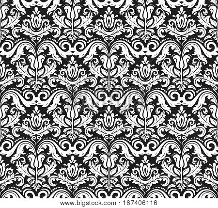 Seamless classic vector black and white pattern. Traditional orient ornament. Classic vintage background