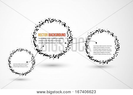 abstract water and circle. black and illustration