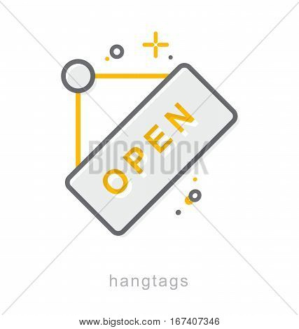 Thin line icons, Linear symbols, Hangtags icon