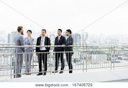 Business Briefing Diversity Presenting Showing