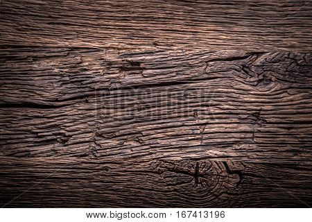 Oak background.Very old oak table as background with empty space.