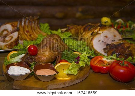 A Variety Of Meat Dishes In One Of The Bars.