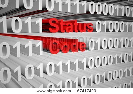 status code as a binary code 3D illustration