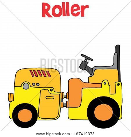 Roller transportation cartoon vector art collection stock