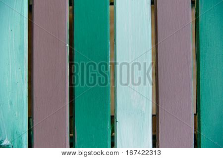 wooden board painted green brown old style abstract background objects for furniture.wooden panels is then used.Boards three colors
