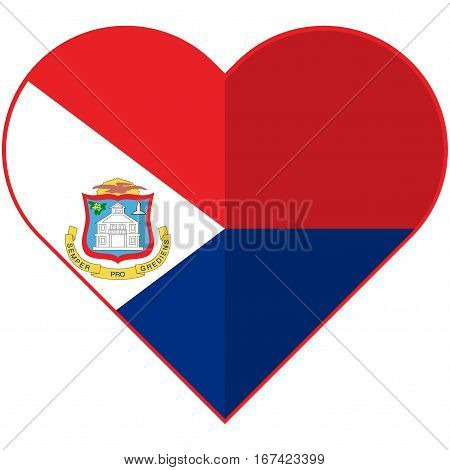 Vector image of the Sint Maarten heart flag