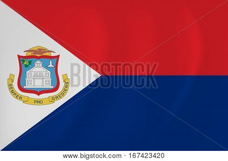 Vector image of the Sint Maarten waving flag