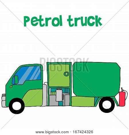 Petrol truck cartoon for kids vector illustration