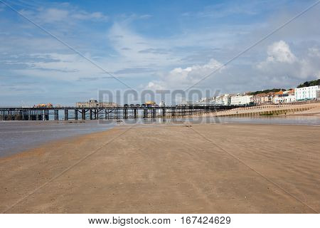 New Hastings pier which was rebuilt and open to public in 2016 East Sussex. England