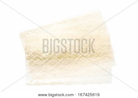sheet of gelatin leaves on a white background
