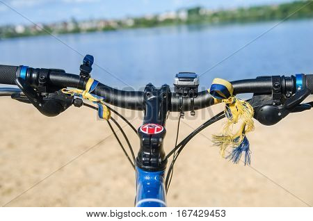 handle bicycle An Image of Grassland And Bicycle