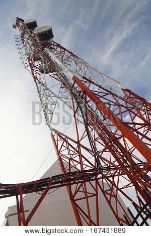 The tower of cellular communication provides with communication people around