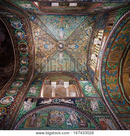 Cupola Of Basilica San Vitale In Ravenna City