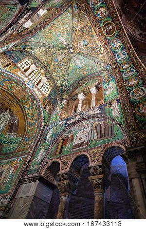 Decorations In Basilica San Vitale In Ravenna City