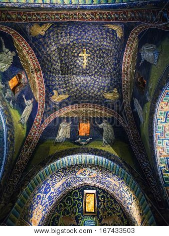 Ceiling Of Galla Placidia Mausoleum In Ravenna