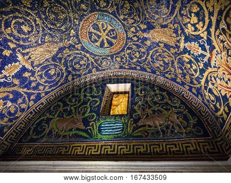 Niche Of Galla Placidia Mausoleum In Ravenna