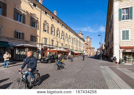 Iew Of Corso Martiri Della Liberta In Ferrara City