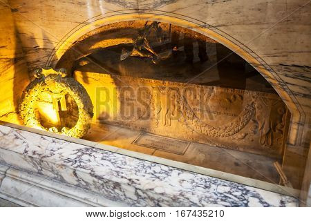 The Tomb Of Raphael In Pantheon, Rome