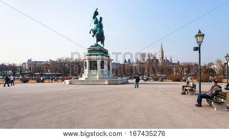 Archduke Charles On Heldenplatz Square