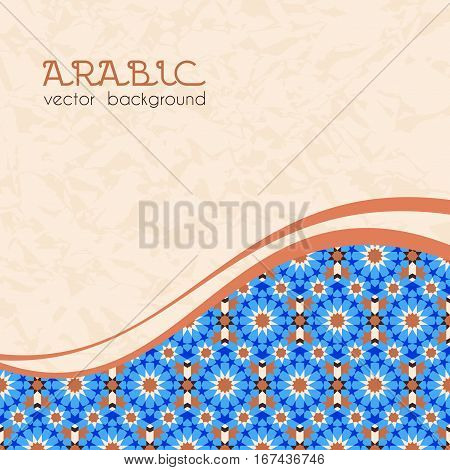 Abstract background with traditional vintage arabic mosaic