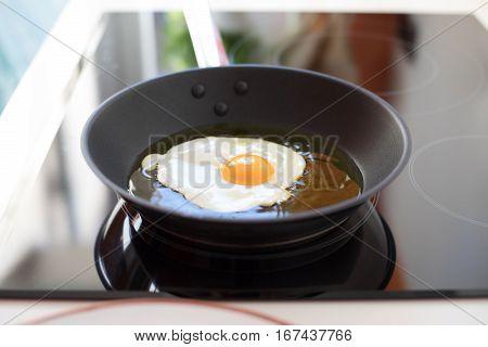 Frying Pan Cooking Egg