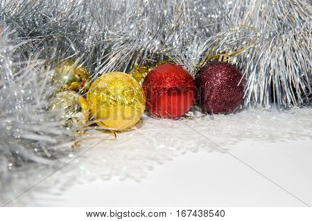 cristmas ball isolated on white close up