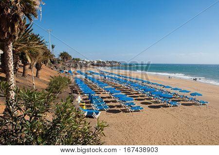 Puerto del Carmen promenade Lanzarote Canary islands