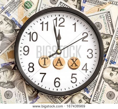 Clock with word