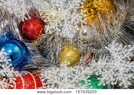 Christmas decoration 2017 new year close up