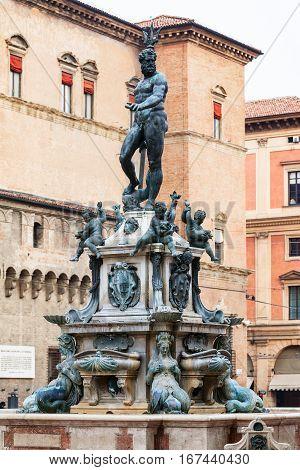 Fountain Neptune In Bologna City