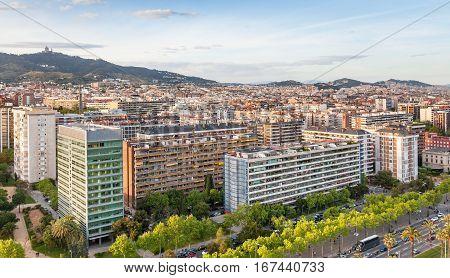 Houses Along Avinguda Diagonal In Barcelona