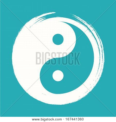 Vector Yin Yang in a Zen Circle Illustration