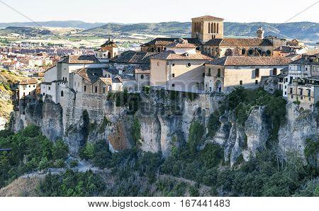 Cuenca (Castilla-La Mancha Spain) the famous casas colgadas Unesco World Heritage SIte