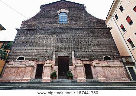 Facade Of Chiesa Di Santa Lucia In Bologna City