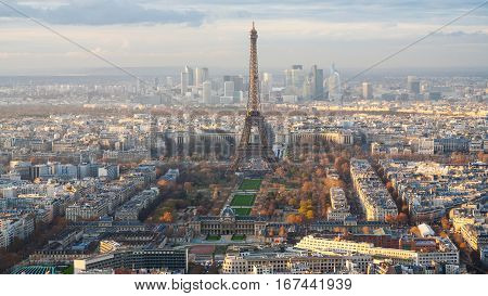 Paris City With Eiffel Tower, Champ De Mars