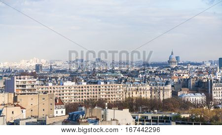 Above View 5Th Arrondissement And Pantheon