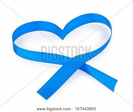 Blue heart ribbon