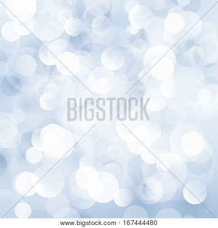 Soft Bright Abstract Bokeh Background in Shades of Blue ,Soft Glow of the Sun, Defocused Lights