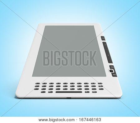 Blank E-book Reader 3D Render Image On Gradient