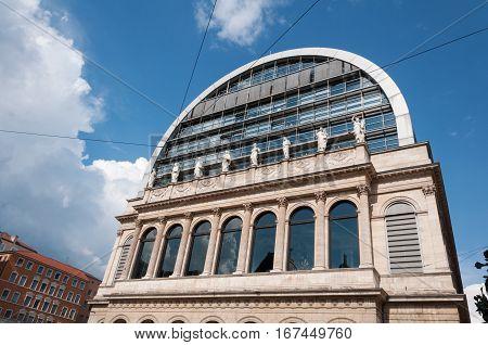 Lyon, Rhone-Alpes, France - May 19 Nouvel Opera House