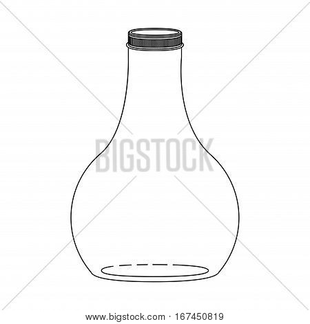 silhouette wide glass bottle down vector illustration