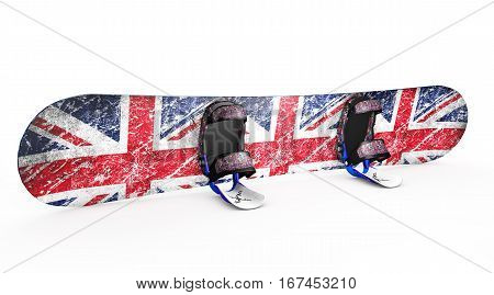 snowboard isolated on white 3d render Boot, Pictorial, Snowboarding, Representing