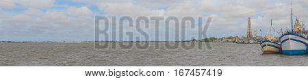 Boats Anchored In Lagoa Do Patos Lake